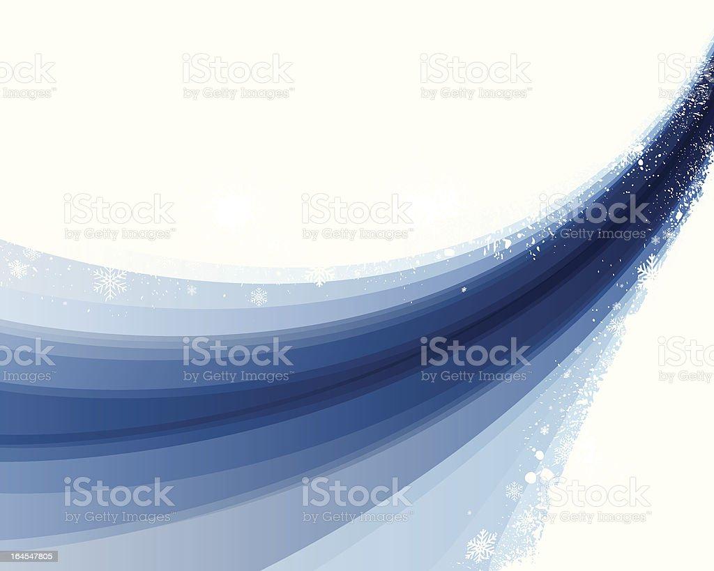 Blue Winter Flow royalty-free stock vector art