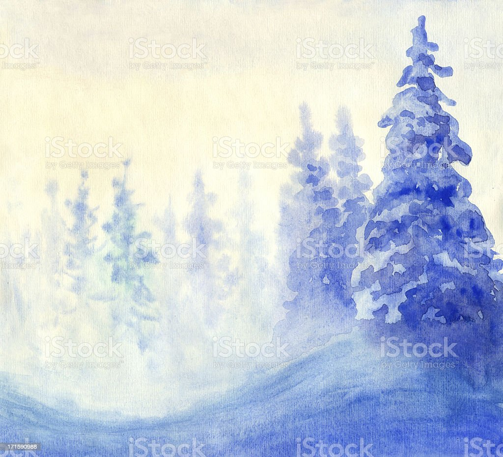 Blue Winter royalty-free stock vector art