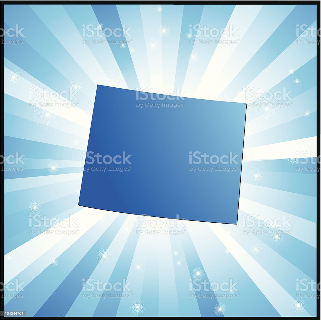 Blue Wyoming royalty-free stock vector art