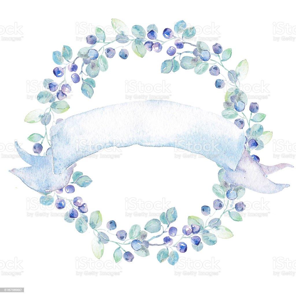 Hochwertige Wasserfarben. Hochzeit Einladung. Grußkarte Lizenzfreies Vektor  Illustration