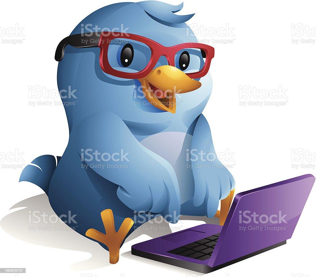 Bluebird: Blogger royalty-free stock vector art