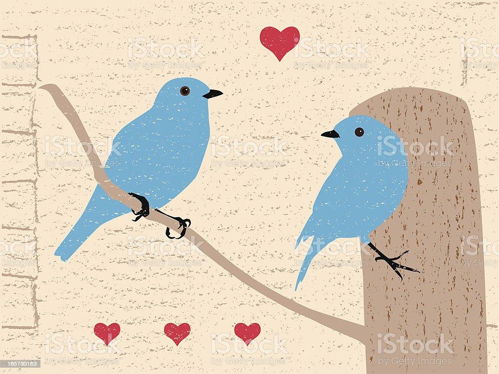 bluebird valentine royalty-free stock vector art