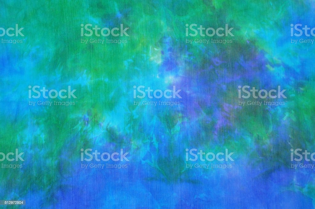 Blue-green tie dye silk background vector art illustration