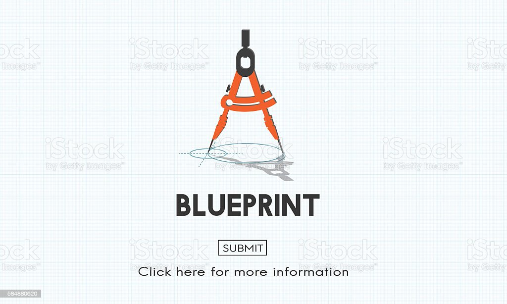 Blueprint Architect Dimensions Project Drafting Concept vector art illustration