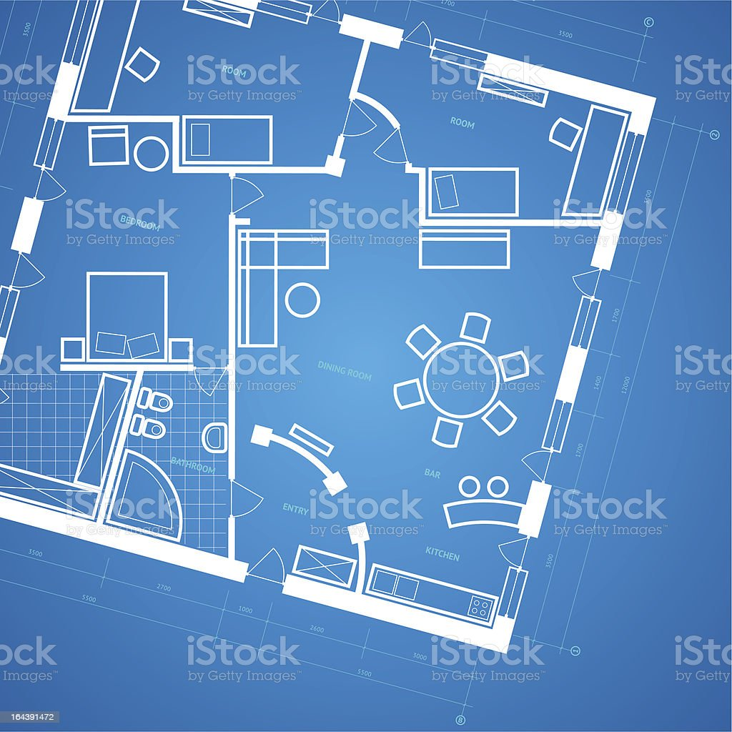 Blueprint background royalty-free stock vector art