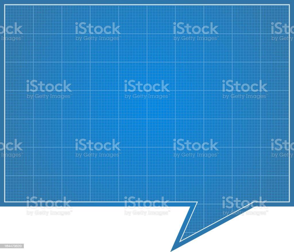 Blueprint Speech Bubble royalty-free stock vector art