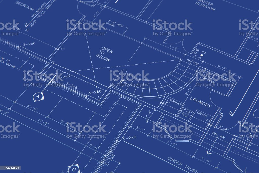 blueprints b15 royalty-free stock vector art