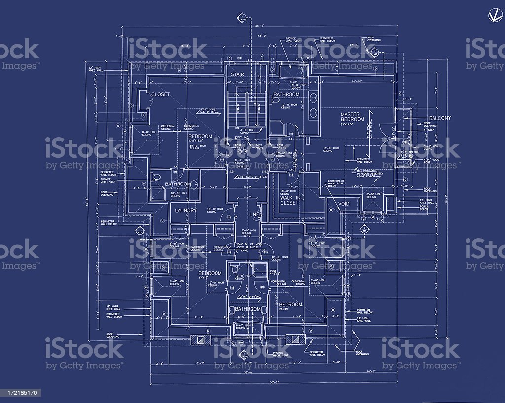blueprints b19 vector art illustration
