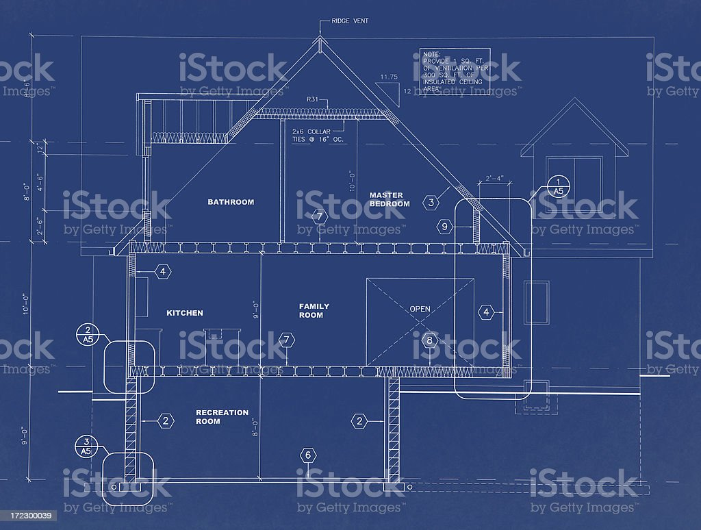 blueprints b22 royalty-free stock vector art