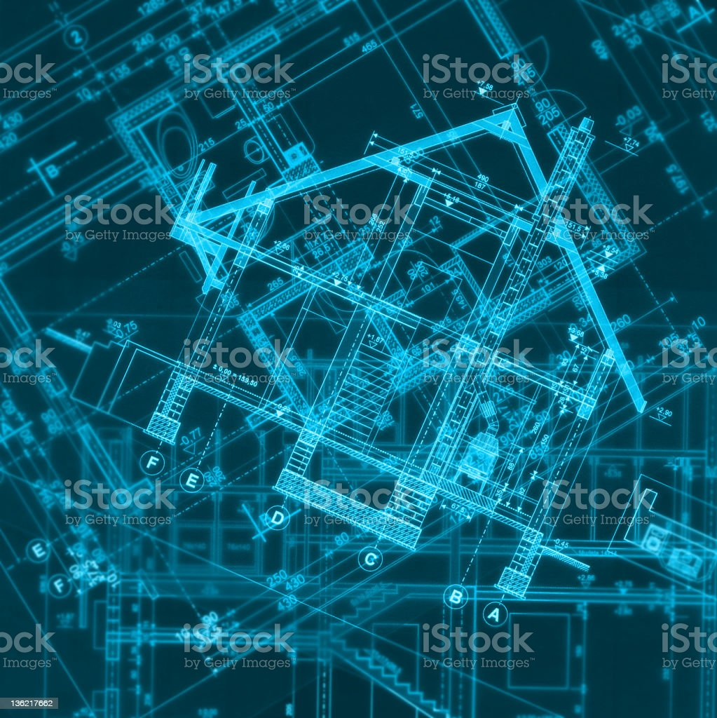 Blueprints background royalty-free stock vector art