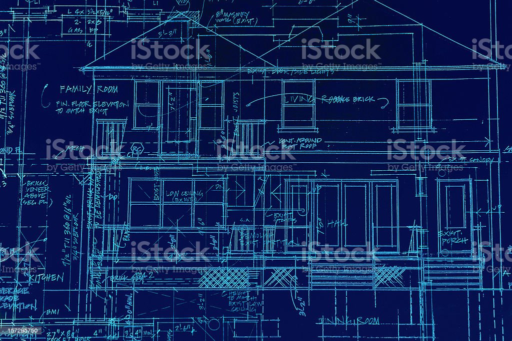 BluePrints - Chaos of Lines I royalty-free stock vector art