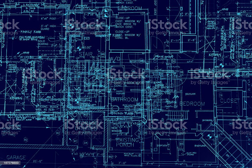 BluePrints - Chaos of Lines II royalty-free stock vector art