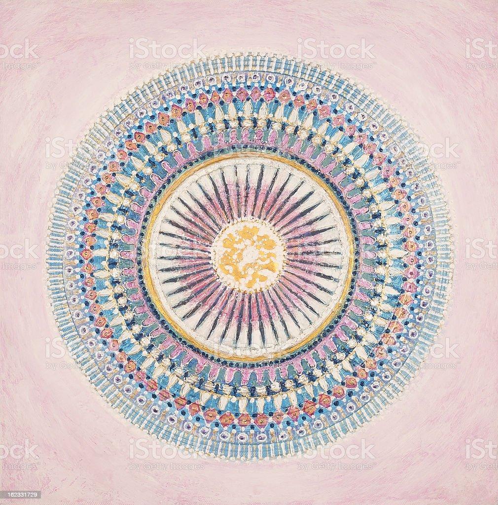 Azul-Ray Mandala illustracion libre de derechos libre de derechos