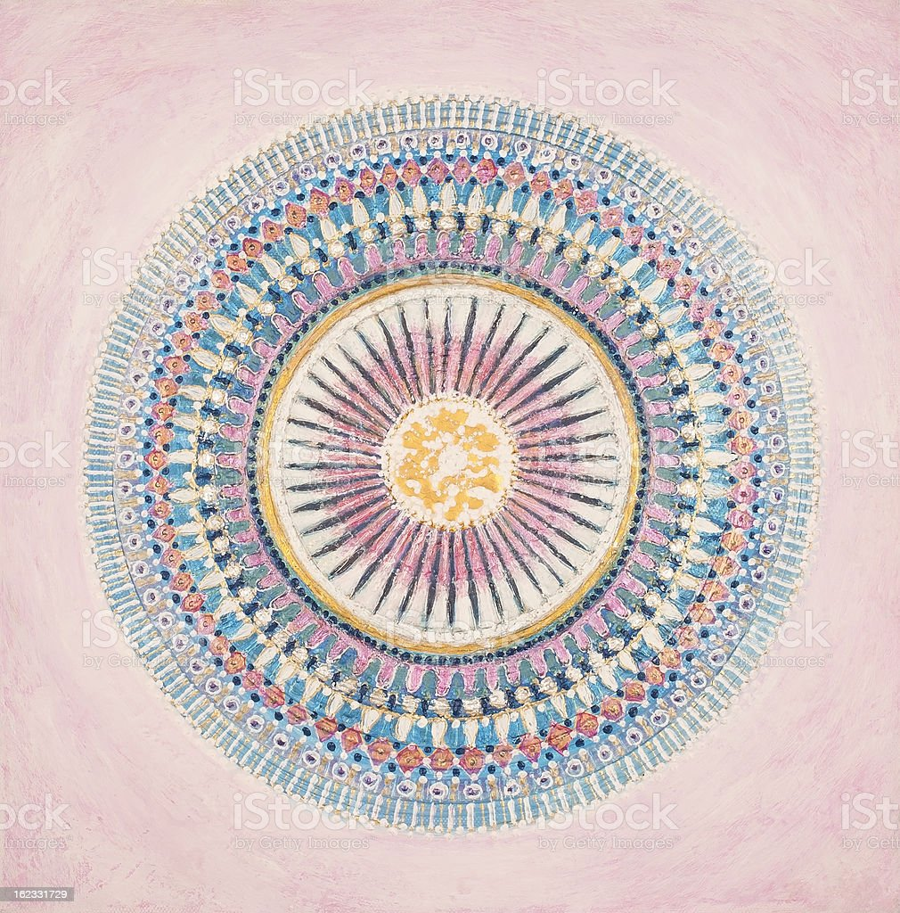 Blue-Ray Mandala royalty-free stock vector art