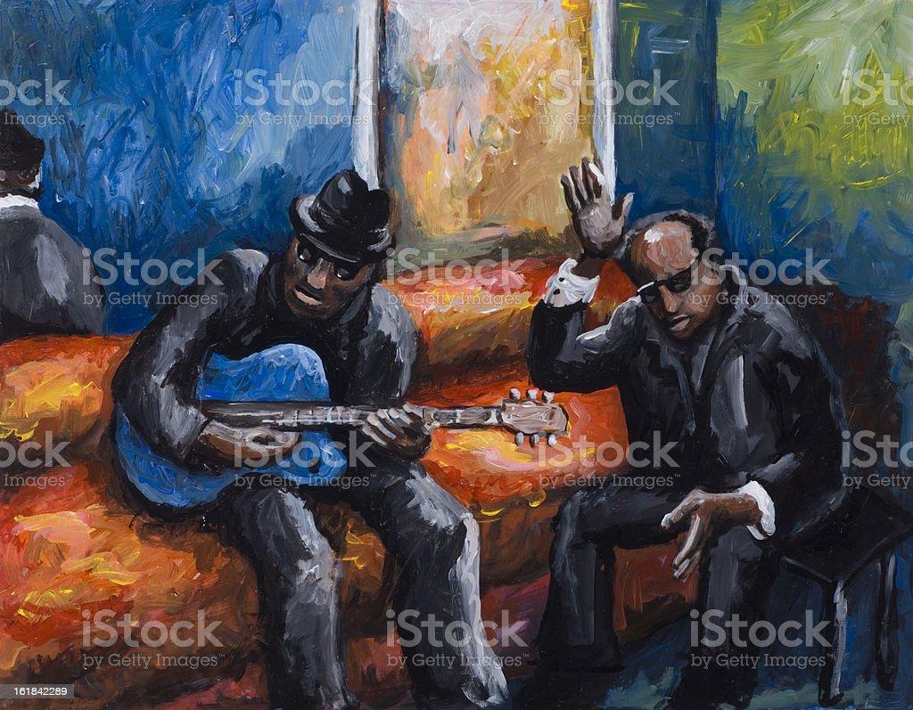 Blues vector art illustration