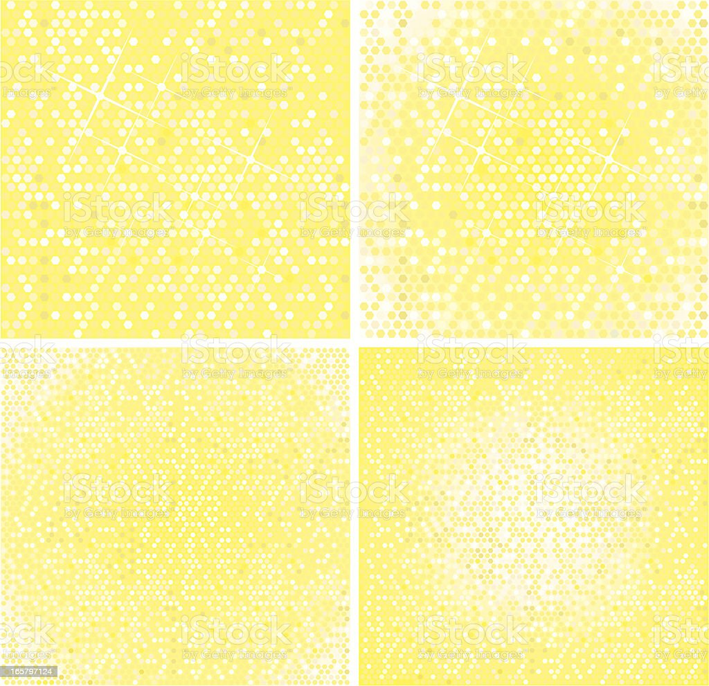 Blurry light backgrounds, yellow. royalty-free stock vector art