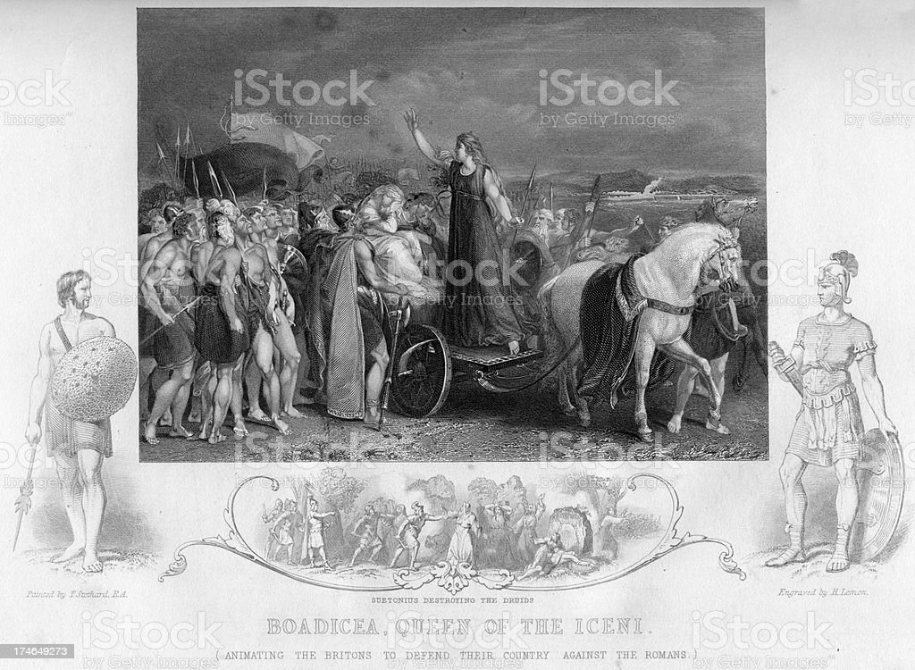 Boadicea Queen of the Iceni vector art illustration