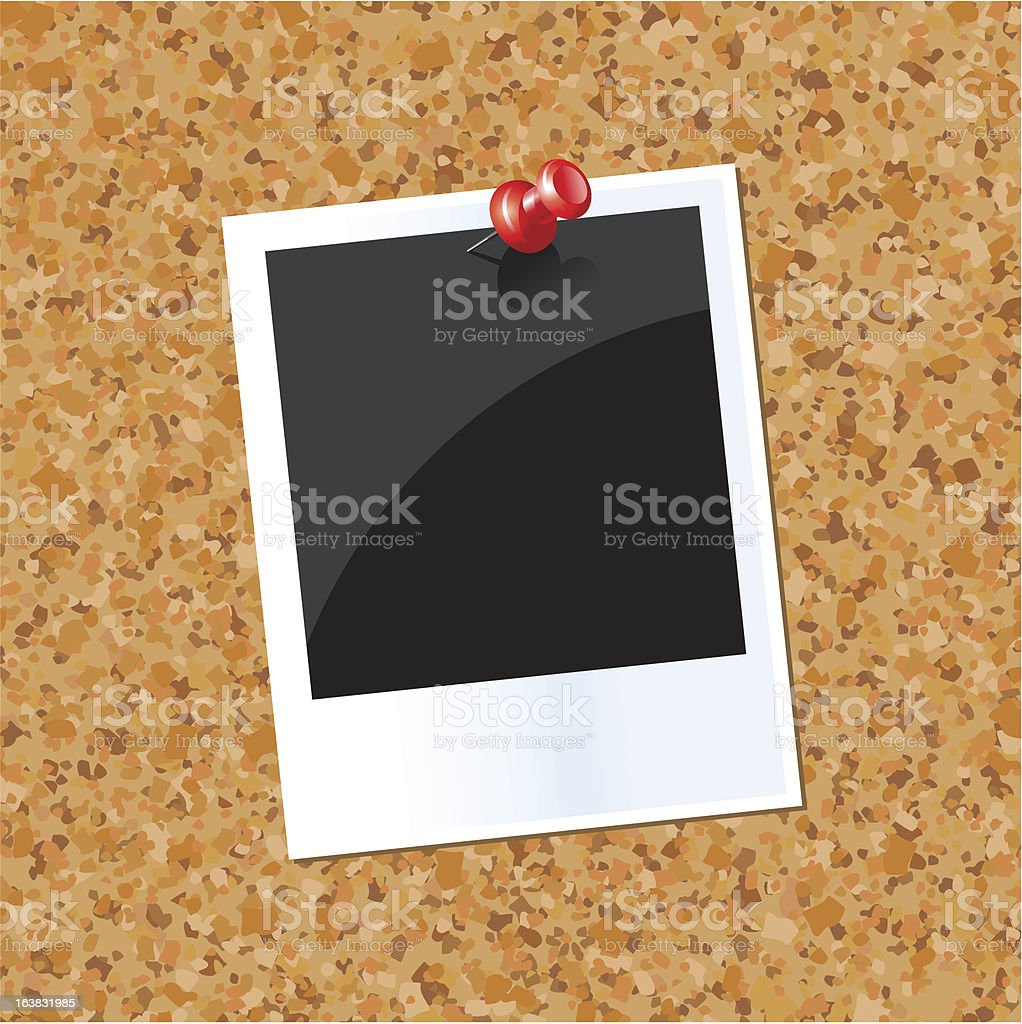 board with a photo royalty-free stock vector art