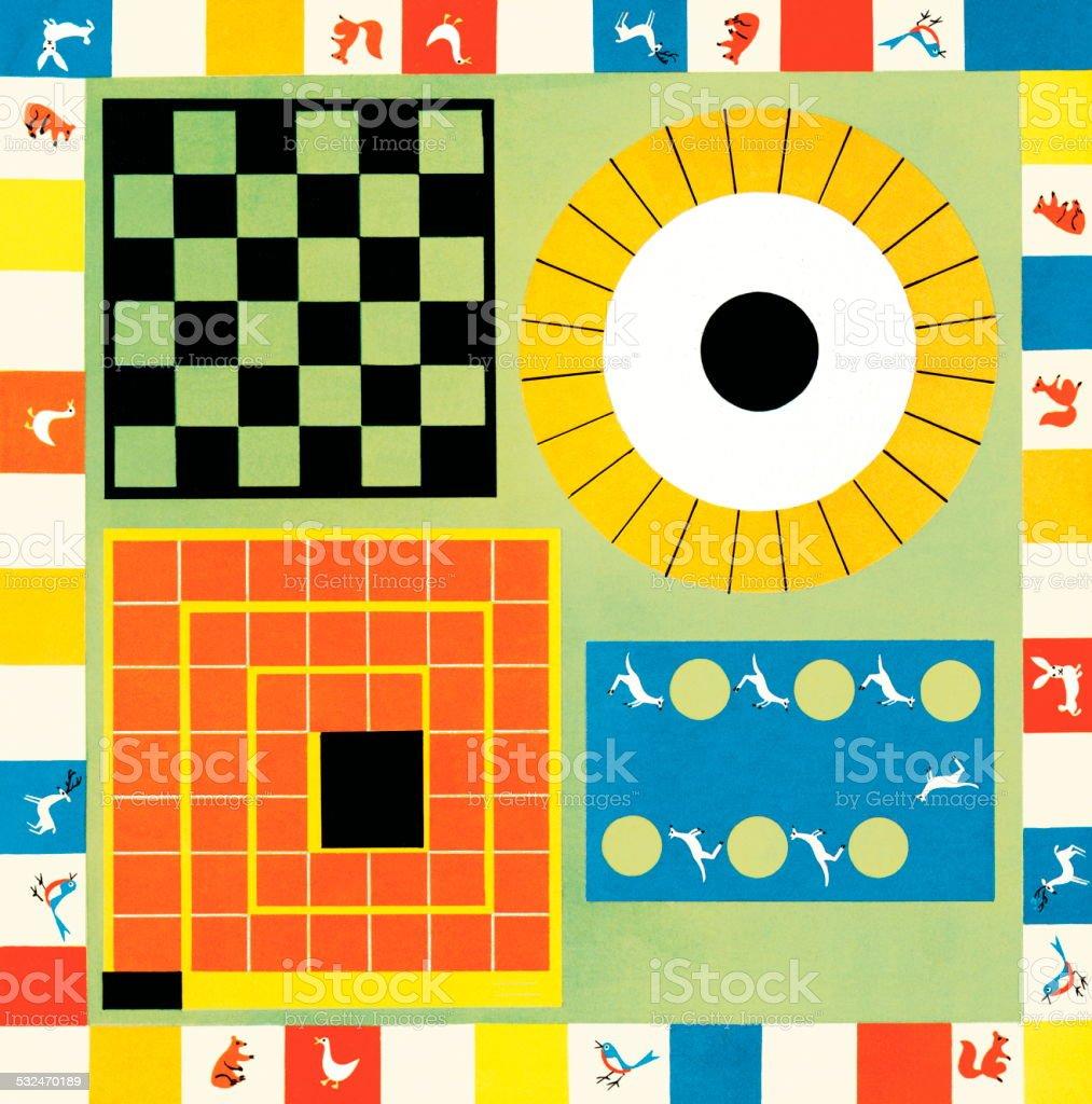 Boardgames vector art illustration