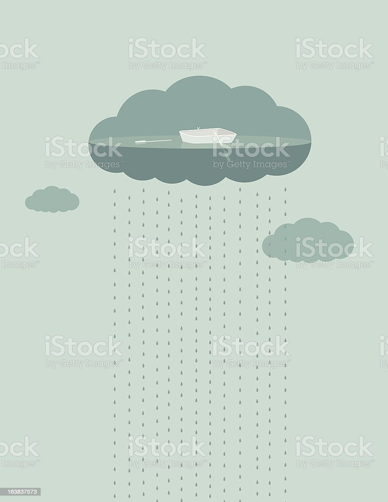 Boat and Cloud royalty-free stock vector art
