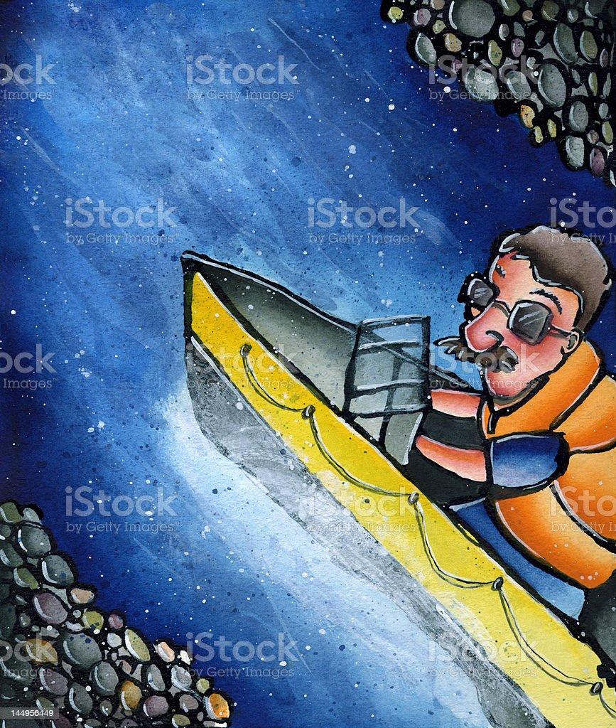 Boating royalty-free stock vector art