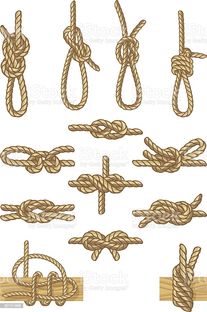 boating knots royalty-free stock vector art