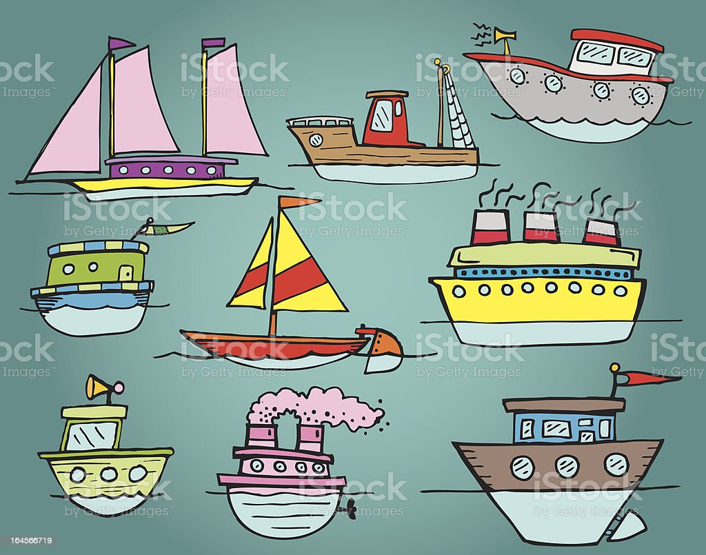 Boats royalty-free stock vector art