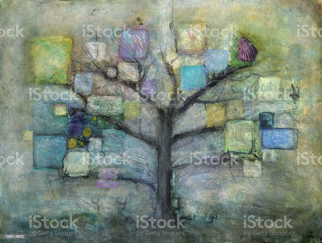 Bodhi Tree vector art illustration