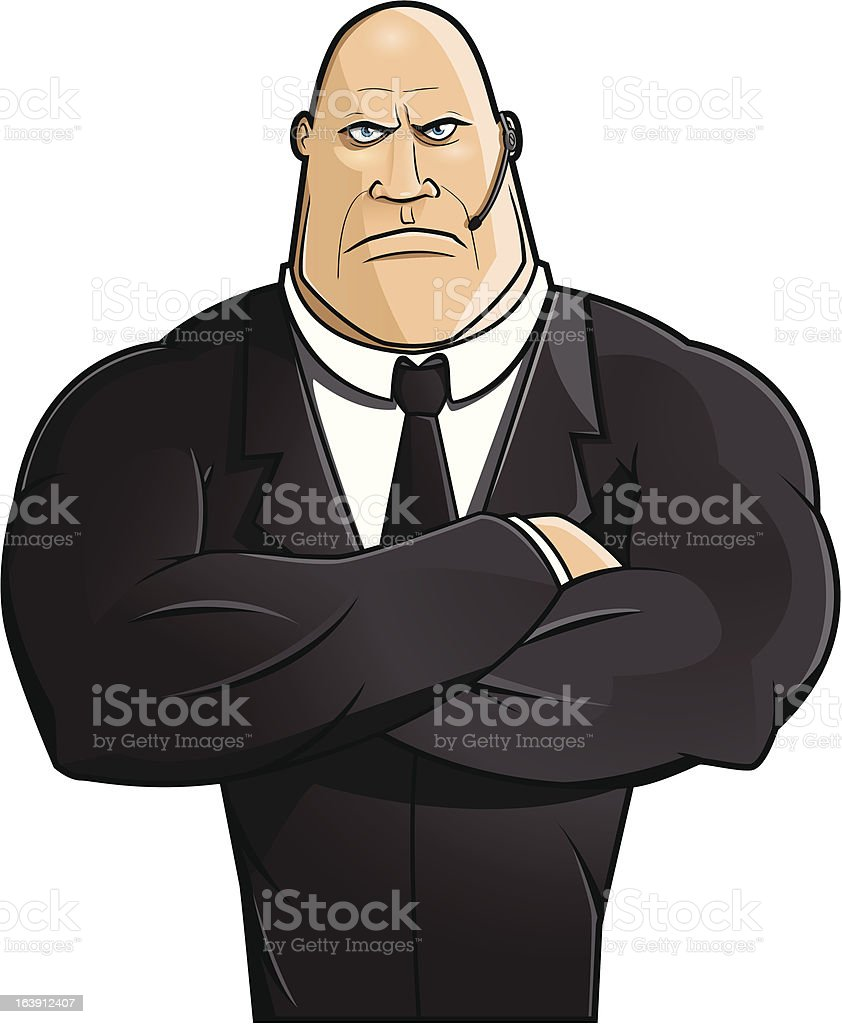 Bodyguard/Bouncer royalty-free stock vector art