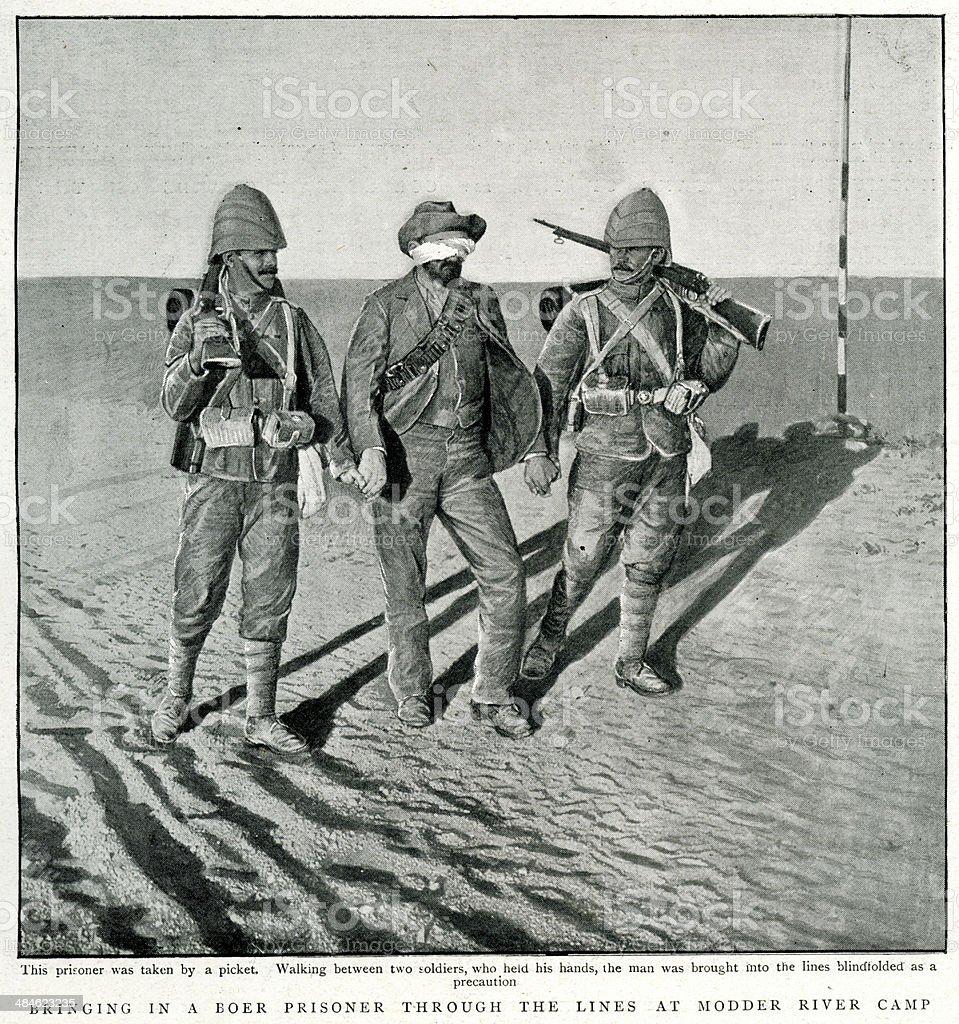 Boer Prisoner of War vector art illustration