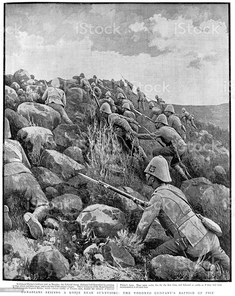 Boer War - Canadian Troops royalty-free stock vector art