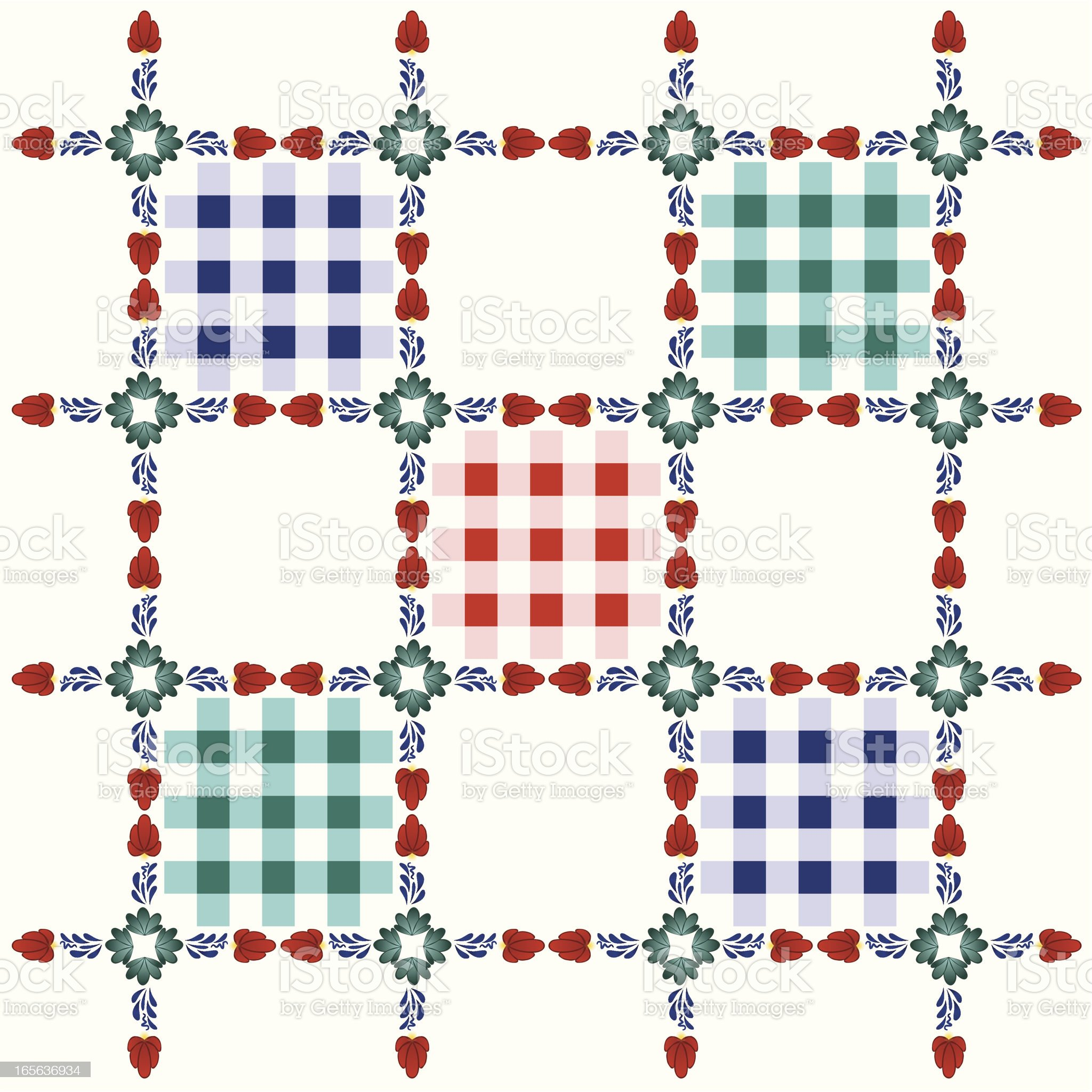 Boerenbont pattern royalty-free stock vector art