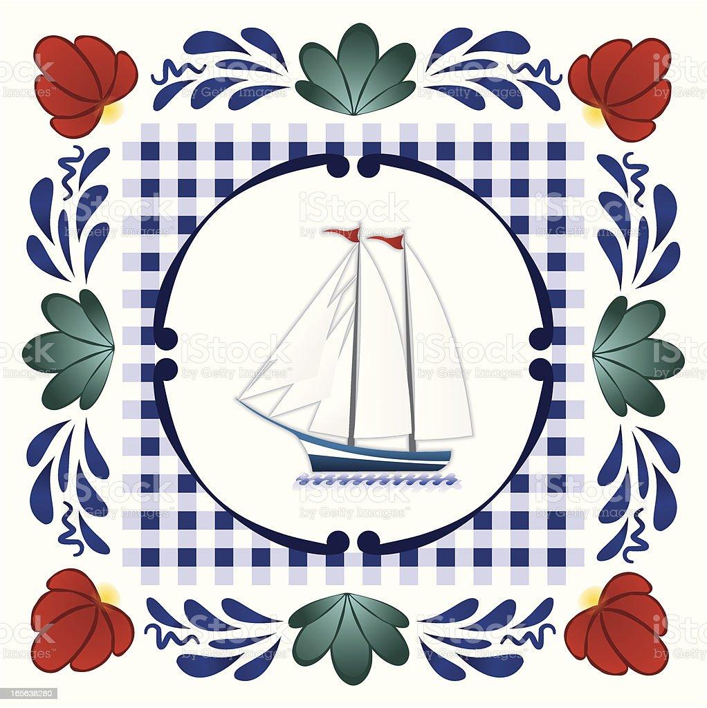 Boerenbont sailboat royalty-free stock vector art