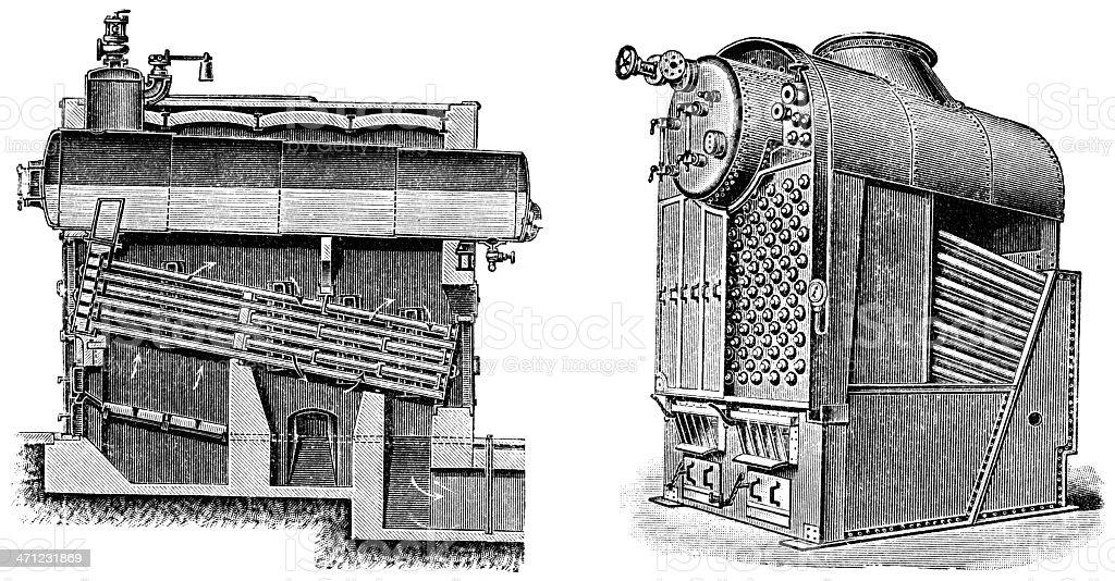 boiler vector art illustration