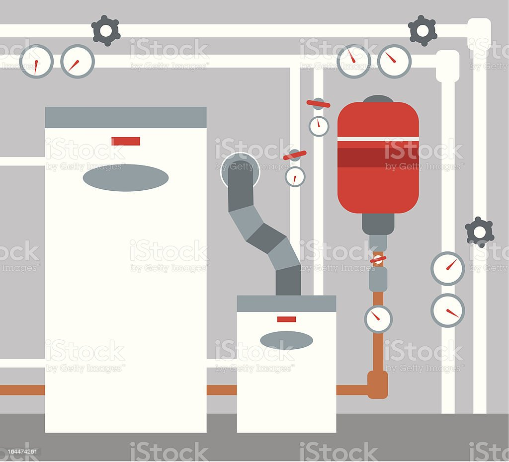 Boiler room vector art illustration