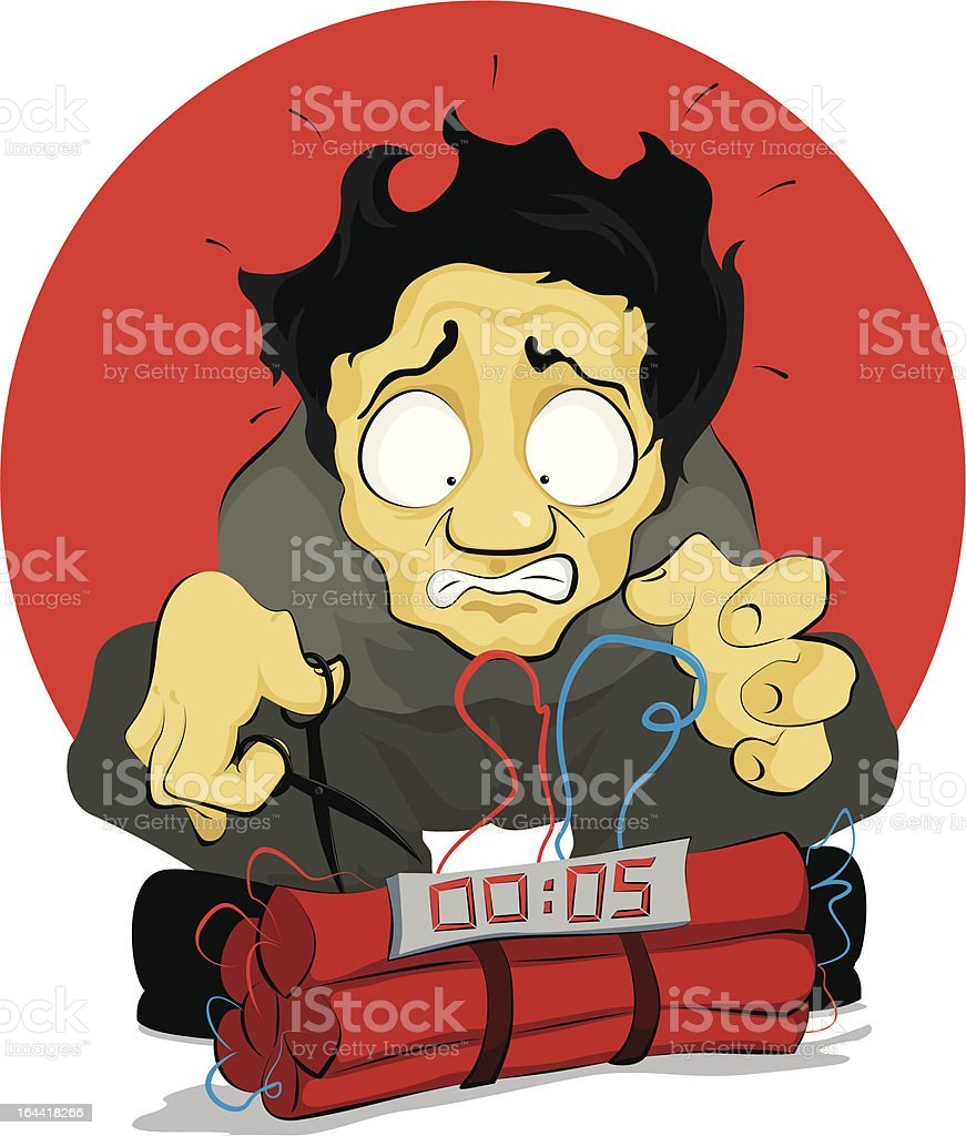Bomb Disposal royalty-free stock vector art