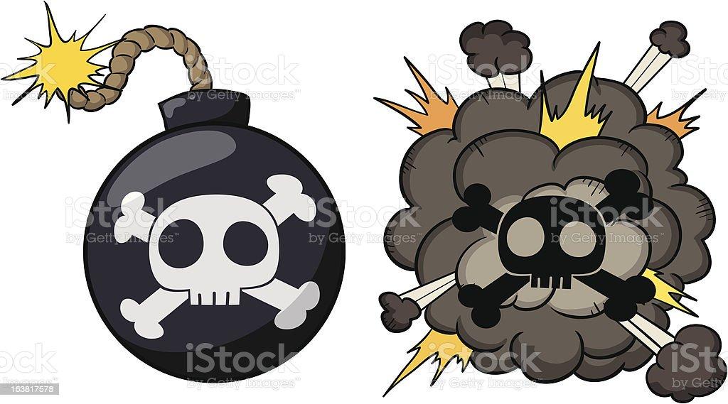Bomb explosion royalty-free stock vector art