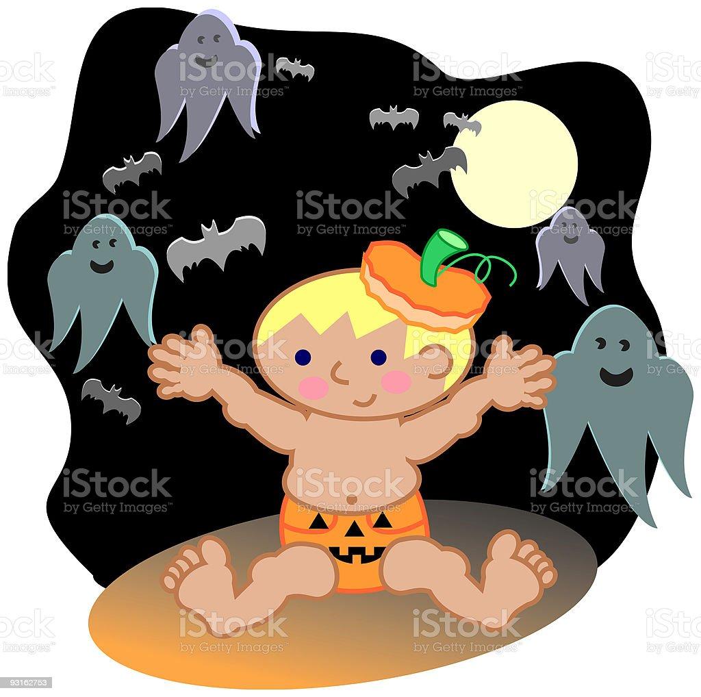 Boo! - Halloween Baby vector art illustration