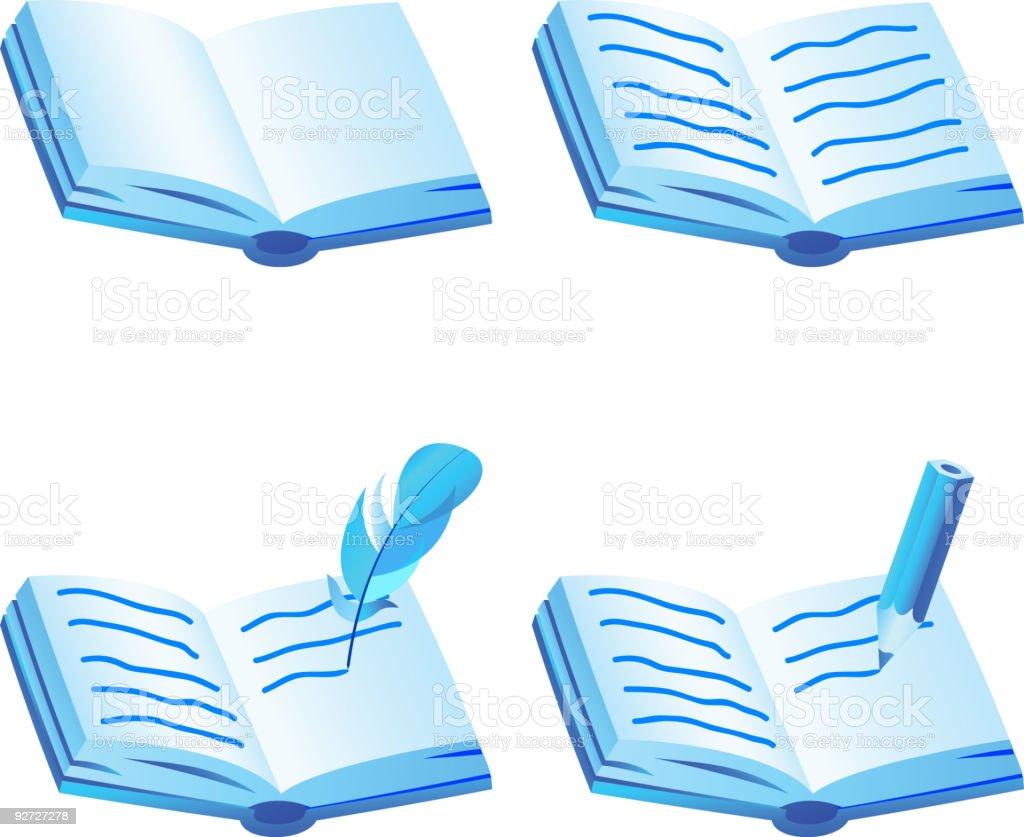 Book icon set. royalty-free stock vector art