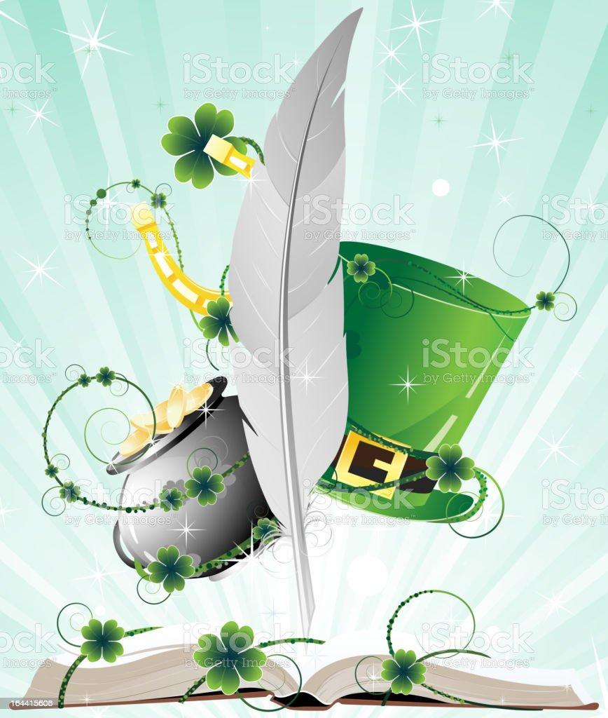 Book of fairy tales vector art illustration