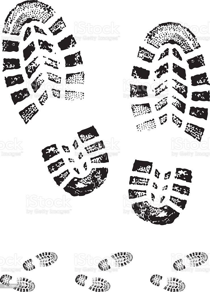 boot print vector art illustration