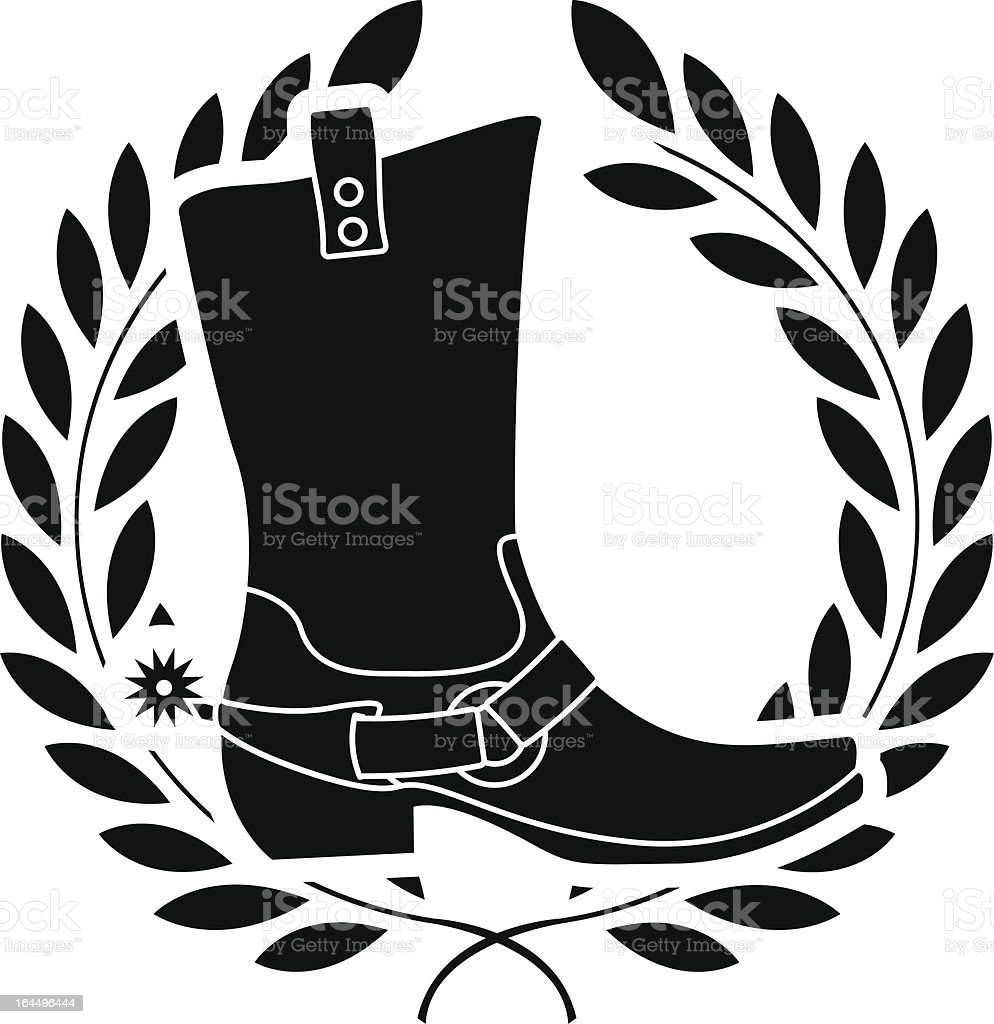 boot with spurs royalty-free stock vector art