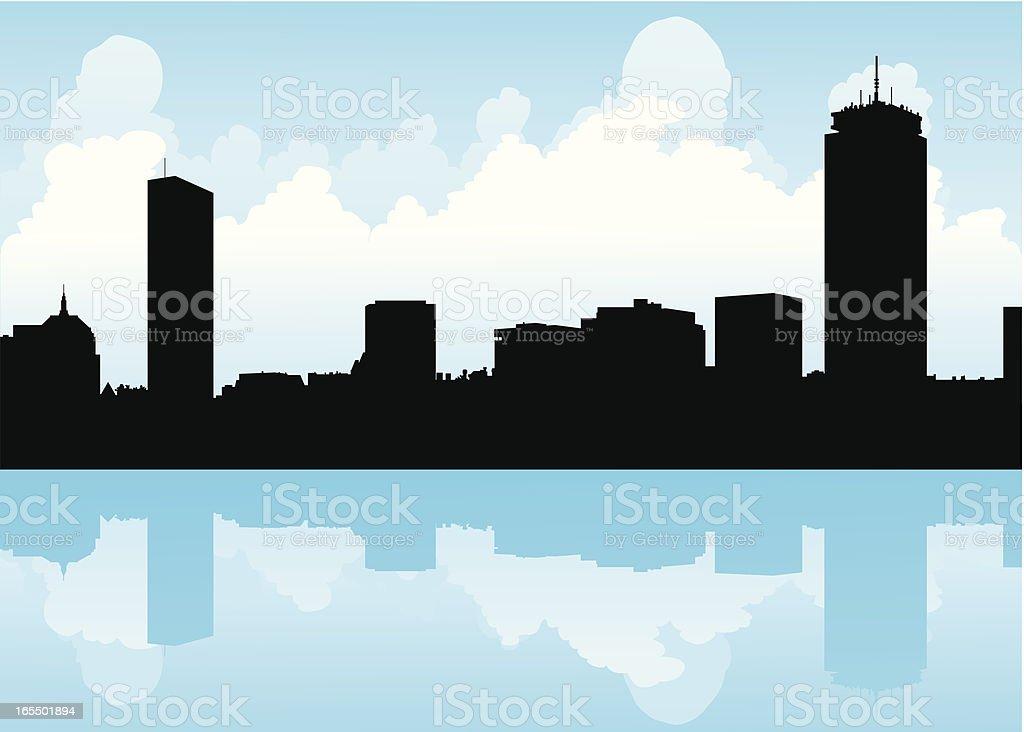 Boston Skyline royalty-free stock vector art