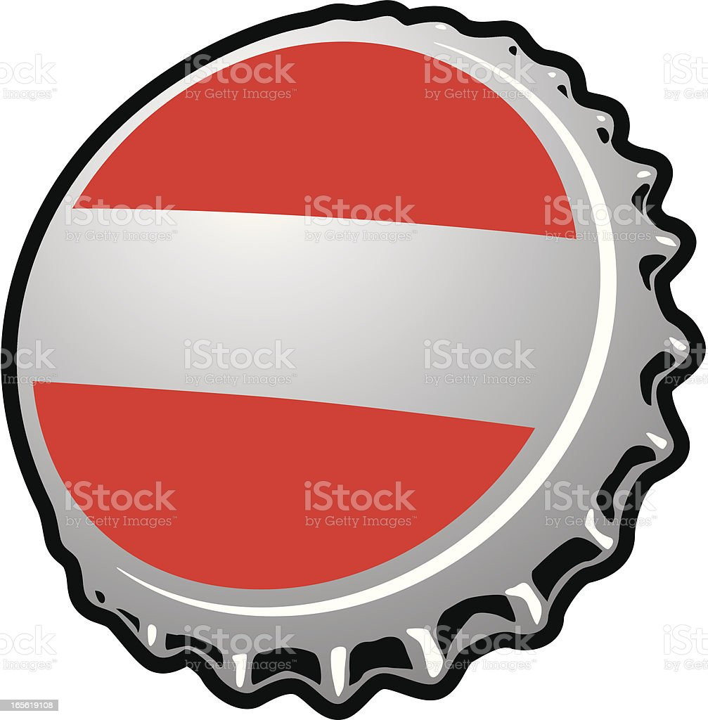 Bottle cap vector art illustration