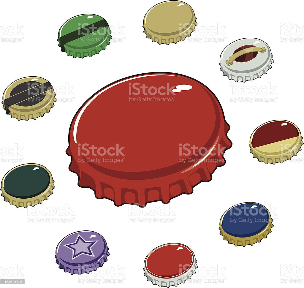 Bottle Caps royalty-free stock vector art