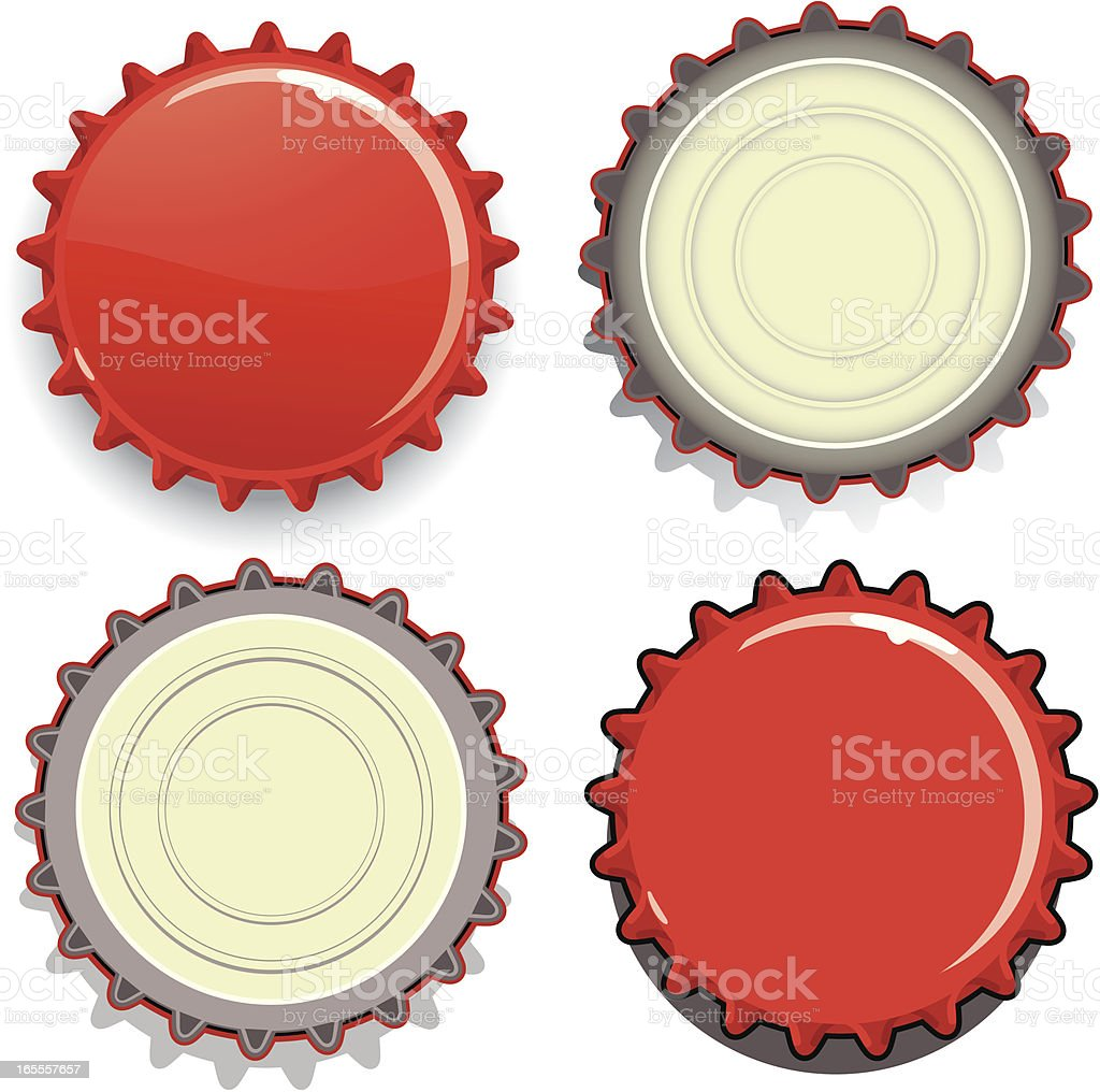 Bottle Caps vector art illustration