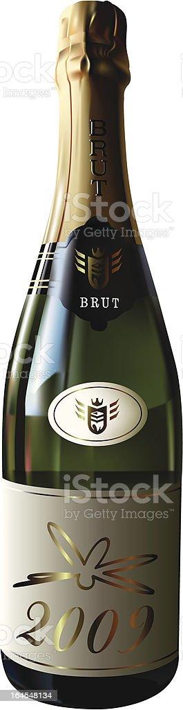 Bottle of 2009 vector art illustration