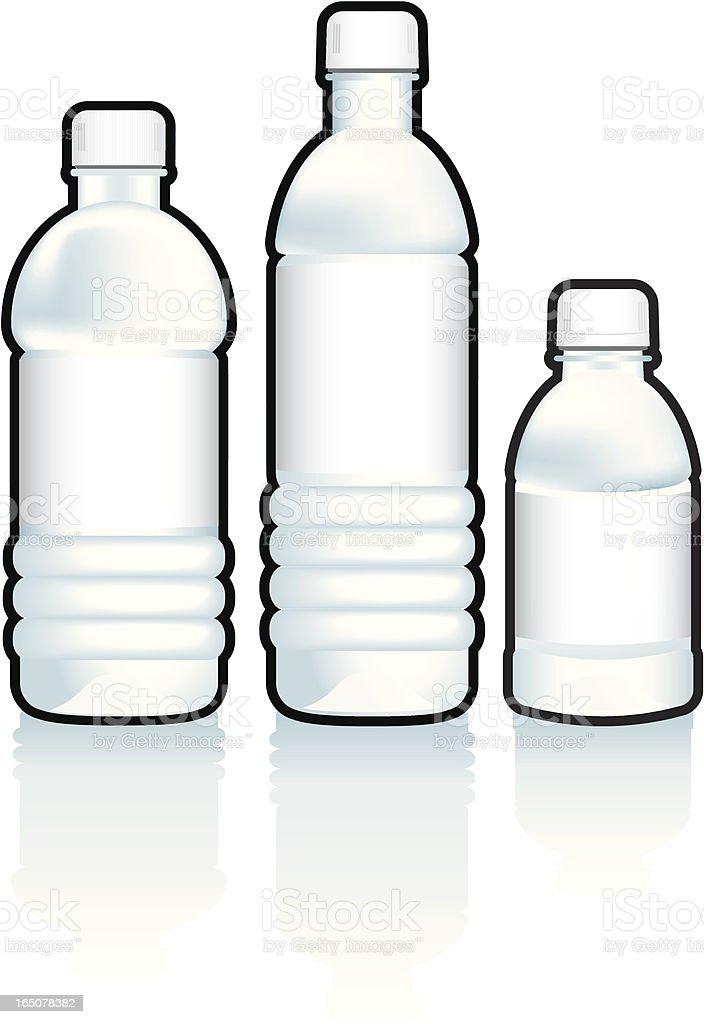 Bottled Water royalty-free stock vector art