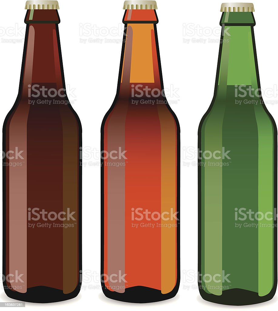 bottles of beer vector art illustration