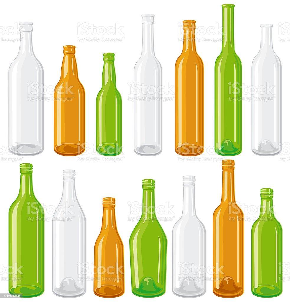 Bottles set royalty-free stock vector art